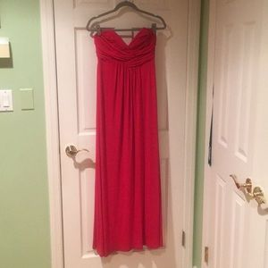 Laundry Red Strapless Dress